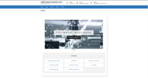 Apex Machining Inc website